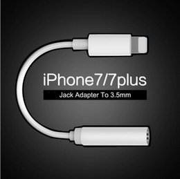 Apple Iphone 7 Earphone Headphone Converter Adapter iPhone 7 6S 5SE Plus AUX Connector Headset Cable for Lighting to Female 3.5mm Jack Audio