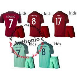 Wholesale kids PORTUGAL RONALDO NANI MOUTINHO FIGO soccer jersey camisetas futbol thai thailand quality football jerseys SOCCER UNIFORMS SETS