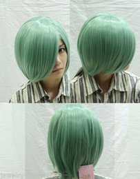 High Quality Fashion Picture full lace wigs >Heat Resistant Cosplay Short Straight Light Green Women's Full Wig