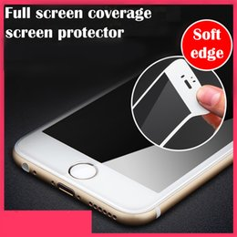 9H 0.26mm For iPhone6s 6 7 plus Phone Screen Protector Film Glossy Carbon Fiber 3D Curved Edge Tempered Glass For iPhone