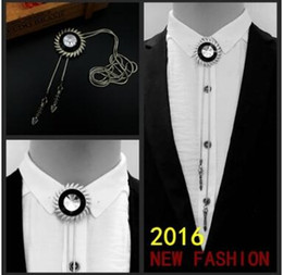 Wholesale Fashionable men shirt metal tie poirot brought the necklace New fashion Set you apart