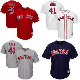 Wholesale Youth Chris Sale Jersey Boston Red Sox Jersey Chris Sale Flexbase Cool Base Stitched Embroidery Logos Baseball Jerseys