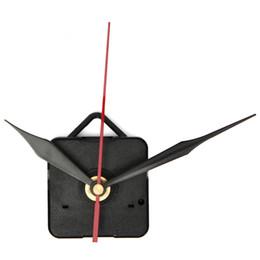Venta al por mayor-2016 a estrenar reloj de cuarzo del movimiento de la pared mecanismo negro + rojo de segunda mano reparar kit de piezas DIY desde relojes de cuarzo piezas fabricantes