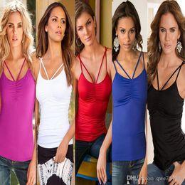 tank top women t shirt off shoulder sexy summer cropped