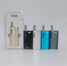 Wholesale Hibron H10 CBD Oil BUD Starter Kit Cartridges With Upgraded CE3 Atomizer mah Box Mod Gold Vape Pen Magnetic Ecigarette Bin Vaporizer