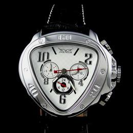 Nuevo dial arrvial del dial de la manera del Mens Reloj AUTOMÁTICO MECÁNICO del triángulo único desde esfera blanca para hombre de los relojes automáticos fabricantes