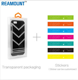 DIY Customize Retail Company Name Clear PVC Transparent Plastic Packaging Box for iphone 7 7 plus Shell Phone Case with Inner Tray