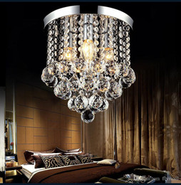 Wholesale Modern cm Crystal Chandelier Light Led Ceiling Light Lamp Clear Crystal Lustre Lamp Aisle Stair Hallway Corridor Porch Lights