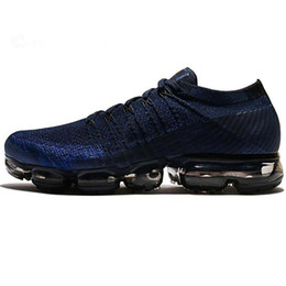 2018 New VaporMax Men Running Shoes For Men Sneakers Knitting Fashion outdoor trainers Athletic Sport Shoe Full palm air cushion size5-11