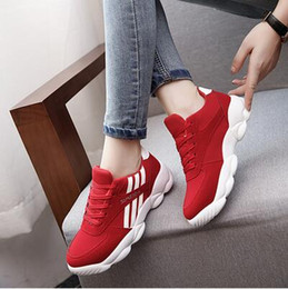 2017 new round tie shoes all-match Korean Ladies fashion girl sports shoes with slip in autumn