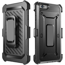 Hot Rugged Hybrid Holster Case Built-in Screen Protector with Belt Clip Durable Shockproof Cover for Iphone 7 6S Plus Samsung Galaxy S6 S7