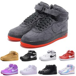 Wholesale With Box New HIGH SP Men and Women Skateboarding Shoes Fash shipping Fashion lover high top sport supreme Forceing wheat One Skate shoes