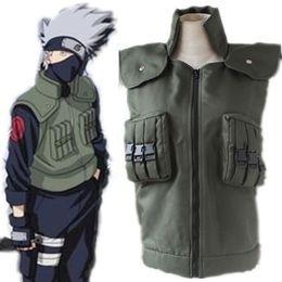 Hatake Kakashi cosplay costumes vest Naruto Shippuden vest Japanese anime Naruto clothing halloween costumes Masquerade costumes
