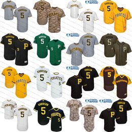 Youth men's Pittsburgh Pirates Jerseys #5 Josh Harrison Camo Blue White brown GREEN flexbase KIDS cool base Baseball Jersey Size S-4XL