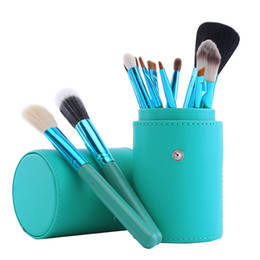 Mybasy 12 Pcs Makeup Brushes Set with Barrel Holder Premium Quality Cosmetic Beauty Brush Kit Use For Best Gift To Friends