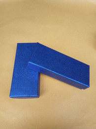 Key ring box gift packing face paper is sapphire blue sky blue pink fectory customize size material sponge can be custom made