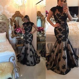 Camisa de potencia en Línea-2017 el nuevo negro apela el vestido de noche de los vestidos del baile de fin de curso de los vestidos del baile de fin de curso de la sirena de los vestidos de noche formales de la longitud del piso