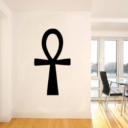Hot Sale Egyptian Ankh Symbol Ribbon Special Shape Art Wall Decal Stickers Bedroom Living Room Decorative Murals Vinyl Diy