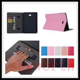 Flip Folio Leather case for ipad MINI 4 Samsung Galaxy tab S S2 A T377 T350 T700 T710 Hand Holder Card Slot