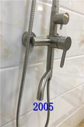 Trefilado de acero en venta-20172005 cabezal de ducha de acero inoxidable nuevo (con dos cuadrados y tamaño redondo) tipo de pared colgante, material de dibujo de alambre