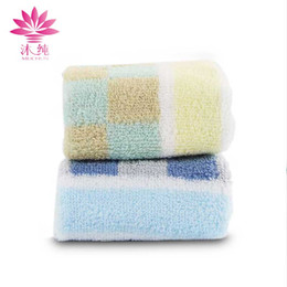 muchun Brand Lattice Stripes Towel 100% Natural Cotton Fabric Hand Dry Towel Clearing Animal Face Towel for Kitchen Bathroom Office