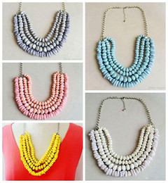 Layered Beaded Statement Necklace, Free Shipping Candy Color Necklace, New Fashion Hot Sale Necklace, Trendy Style Necklace