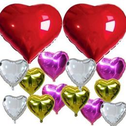 30inch 75cm Wedding Balloon - Supersize 6 Color Heart Shap Foil Air Balloons Wedding Party Love Decorations Marriage Ballon Supplies