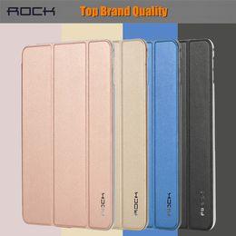Vente en gros-Pour iPad Mini4 Smart Case Original ROCK Marque Touch Series Ultra-mince pliable Intelligente Flip PU Housse en cuir pour iPad Mini 4 mini rocks deals à partir de mini-roches fournisseurs