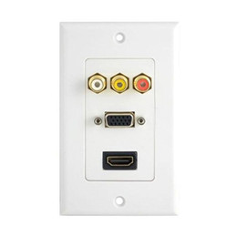 Wholesale Ports HDMI VGA RCA Composite Audio Video Wall Plate Panel Socket Outlet