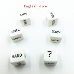 Wholesale 10 MM English Erotic Sex Dice Adult Game Acrylic Sex Toy For Couples Sexy Game Sided Gambling Adult Love Romance sex products