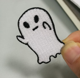 Free Shipping Cute Interesting 1pcs Cartoon Ghost Iron On Patches Embroidery Patches For Clothing Jacket Bag Shoe Hat Appliques High Quality