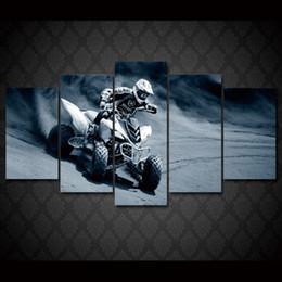 2017 marcos de carreras 5 piezas / set enmarcado HD impreso moto compitiendo con deportes de arte de la pared de impresión de carteles de fotos pintura de lona moderna para habitación de niño presupuesto marcos de carreras