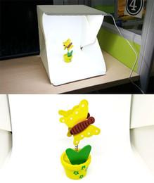 Promotion photo boîte de tente MINI Photo Studio Kit de photographie portable Boîte lumineuse Softbox Photographique avec des fonds 22.6 * 23 * 24cm photo tente légère