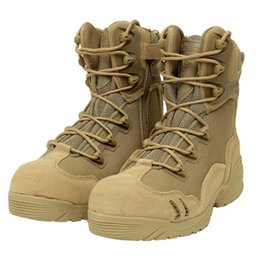 Wholesale military army boots desert tactical boot outdoor men high top combat shoes for hiking jungle man botas high quality