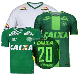 2017 camiseta para correr verde Top Tailandia calidad 2017 brasil liga Chapecoense AF jerseys 16 17 fútbol camisas casa verde lejos blanco tercero SoccER Running Wear camisa camiseta para correr verde en venta