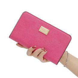 Promotion couleur de titulaire de la carte Rose lettre dame PU portefeuilles en cuir porte-monnaie porte-monnaie noir rose couleur nu sac à main 2017 nouvelle arrivée 3007005