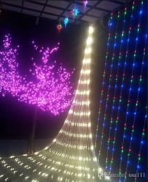 2017 rgb led net Stocks américains! 6W LED Net Meshwork Lumières de Noël Lumière 1.5mx1.5m / 3mx2m / 6mx4m lampe LED Light pour décoration Party Xmas Light abordable rgb led net