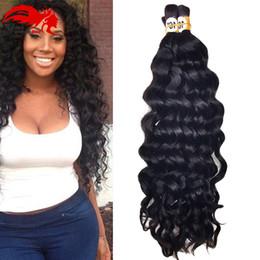 2017 24 profonds faisceaux de cheveux bouclés Mink Brazilian Virgin Hair 6 Bundles Deep Curly Virgin Brazilian Human Braiding Cheveux Bulk No Weft Bulk Human Remy Cheveux Pour Tressage 24 profonds faisceaux de cheveux bouclés ventes