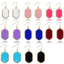 Wholesale Gometric Kendra Earrings Scott Style Acrylic Chandelier Dangles for Women Mixed Colors Bulk Price