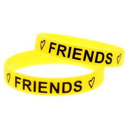 Wholesale 99PCS Lot Best Friends Forever Silicone Bracelet Wear This Latex-Free Wristband To Support The One You Love