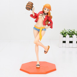 POP Anime One piece figure Nami red cloths pvc Action figure new in box about 22cm free shipping