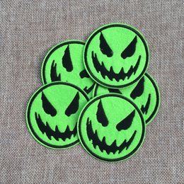 Free Shipping~Lot fashion Horrible smile Iron On Embroidered Patch Appliques DIY bag clothing patches Applique Badges