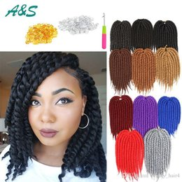 Promotion le tressage des cheveux 12 pouces 100% Kanekalon 12 pouces La Havane Mambo Twist Crochet Braids Cheveux en vrac La Havane Mambo Twist Crochet Synthétique Braiding Hair Extensions