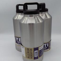 Eaux fraîches à vendre-64oz Tasse de voyage de verre de l'acier inoxydable