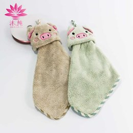 muchun Hand Tower Cartoon Pig Hand Dry Towel Clearing Lovely Animal Face Towel For Kitchen Bathroom Office Car Use