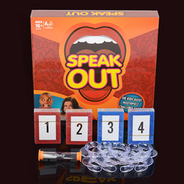 Wholesale Hotest Speak Out Game KTV party game cards for party Christmas gift newest best selling toy A106