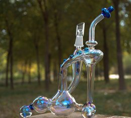Slim Cooler Recycler Water Pipes Oil Rigs with inliner perc high quality schott glass with 14.5mm joint