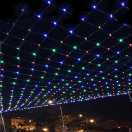 Promotion rgb led net 96 LEDS 1.5M * 1.5M LED Net Lumière Lumière Lumière Lumières Noël Lights Mariage