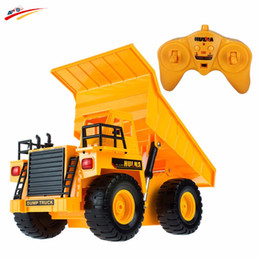 Descuento al por mayor de la ingeniería Venta al por mayor- RC camión de control remoto de camiones volquete de camiones proyecto de simulación de basculante carro de camiones volquete de ingeniería portador de vehículos juguetes