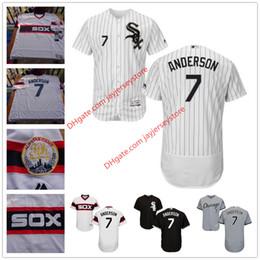 Wholesale 7 Tim Anderson Jersey MLB Baseball Chicago White Sox Jerseys Flexbase Red Black Grey White Cream size XL XL